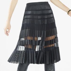 BCBGMaxazria M Black Taura Skirt Faux Leather